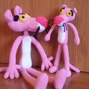 Rózsaszín párduc , Gyerek & játék, Játék, Plüssállat, rongyjáték, Játékfigura, Horgolás, Kézzel készített, horgolt Rózsaszín Párduc. \n\nA képen látható BRózsaszín párduc rögtön elérhető, de ..., Meska