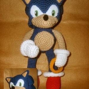 Sonic a sündisznó, Gyerek & játék, Játék, Plüssállat, rongyjáték, Játékfigura, Horgolás, Cuki sündisznó, kb.  24 cm nagyságú. Ha szeretnéd, elkészítem Neked. Bármilyen színvariációban.  Ha ..., Meska