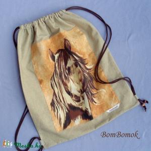 lovas hátizsák vagy tornazsák vászonból (BomBomok) - Meska.hu