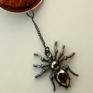 pókos-pókfonalas kapszula nyaklánc (BomBomok) - Meska.hu