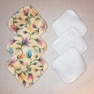mosható virágmintás  kozmetikai korong, Gyerek & játék, Baba-mama kellék, Szépség(ápolás), Táska, Divat & Szépség, Egészségmegőrzés, NoWaste, Textilek, Pamut arctisztító, Varrás, Kozmetikaikorongok, melyek sokszor moshatók és közepes hőfokon vasalhatók is. \n\n2 rétegű, felül puha..., Meska