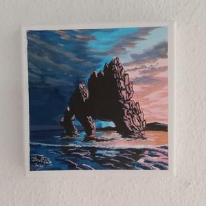 Naplemente a sziklás tengerparton (Bonifac79) - Meska.hu