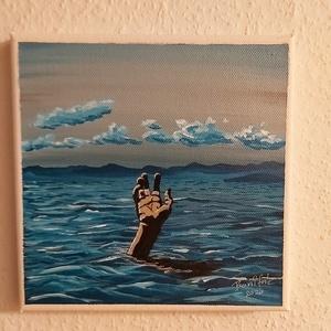 S.O.S., Művészet, Festmény, Akril, Festészet, 20 x 20 cm akril képem, amit saját kézzel, ecsettel festettem, festő vászonra.\nA kép keret nélkül is..., Meska