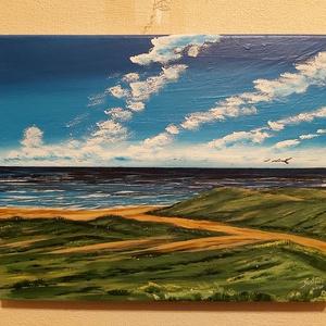 Tengerpart, Művészet, Festmény, Akril, Festészet, 30 x 40 cm  ecsettel és kézzel készített akril képem.\nKeret nélkül a falra tehető, vízálló a festék...., Meska