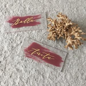 Esküvői ültetőtábla, plexi tábla, névtábla, acryl, ültető, modern, elegáns  - Meska.hu