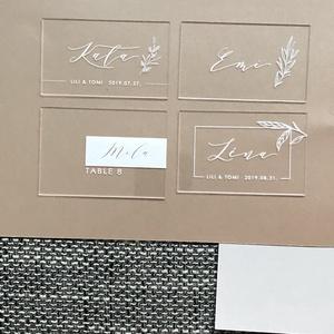 Esküvői ültetőtábla, plexi tábla, névtábla, acryl, ültető, modern, elegáns , Esküvő, Ültetési rend, Meghívó & Kártya, Festett tárgyak, Meska