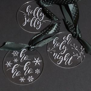 Karácsonyfadísz, karácsony, dísz, karácsonyfa, ajándék, Otthon & Lakás, Karácsony & Mikulás, Karácsonyfadísz, Festett tárgyak, Mindenmás, E G Y E D I   K É Z Z E L   Í R T   K A R Á C S O N Y F A D Í S Z \nEgyedi, ünnepi karácsonyfadísz.\nM..., Meska