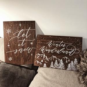 Karácsonyi tábla, fa tábla, advent, otthon, lakás, dekoráció, Otthon & Lakás, Karácsony & Mikulás, Karácsonyi dekoráció, Festett tárgyak, Famegmunkálás, K A R Á C S O N Y I D E K O R Á C I Ó S T Á B L A\n\nKarácsonyi dekorációs tábla\n\nMÉRET: 21x30 cm (~A4..., Meska