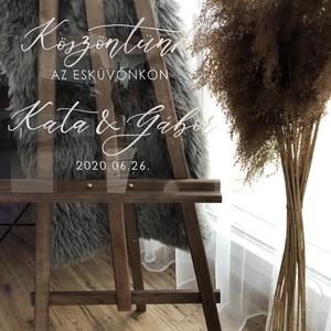 Esküvői tábla, acryl tábla, plexi , átlátszó, modern, elegáns  - Meska.hu