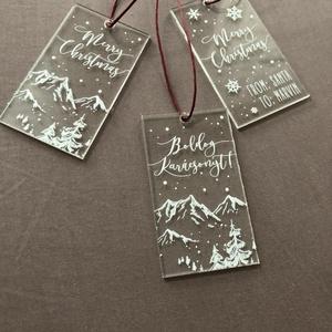 Karácsonyi ajándékkísérő, karácsony, dísz, karácsonyfa, ajándék, Otthon & Lakás, Karácsony & Mikulás, Karácsonyfadísz, Festett tárgyak, Mindenmás, E G Y E D I   K A R Á C S O N Y I A J Á N D É K K Í S É R Ő\nEgyedi, karácsonyi ajándékkísérő\nMÉRET: ..., Meska