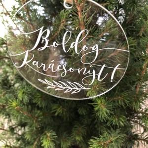 Karácsonyfadísz, karácsony, dísz, karácsonyfa, ajándék, Otthon & Lakás, Karácsony & Mikulás, Karácsonyfadísz, Festett tárgyak, Mindenmás, E G Y E D I   K A R Á C S O N Y F A D Í S Z  \nEgyedi, ünnepi karácsonyfadísz.\nMÉRET: 8cm átmérőjű\nAN..., Meska