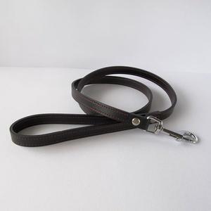 Bőr kutyapóráz 2 cm széles. AKCIÓ nyakörvvel együtt (BOON) - Meska.hu