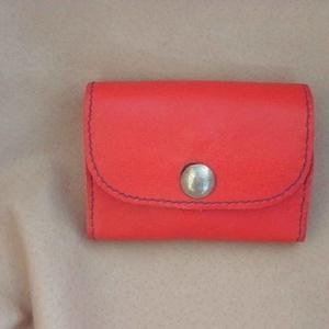 Piros pénztárca (borboszi) - Meska.hu