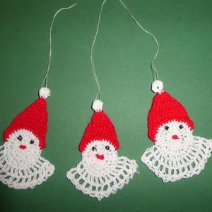 Horgolt karácsonyfadísz mikulás, Otthon & Lakás, Karácsony & Mikulás, Karácsonyfadísz, Horgolás, Rendelésre készül, kb 1 hét az elkészítése. \n700Ft/db, Meska