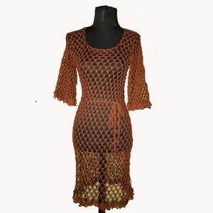 horgolt nyár ruha , Ruha & Divat, Női ruha, Ruha, Rendelésre készül. Más színekben tudom elkészíteni. Pamut fonalból készül. Kell alá egy egyszínű pán..., Meska