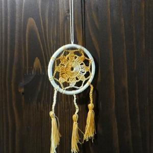 horgolt álomfogó álomcsapda, Otthon & Lakás, Dekoráció, Álomfogó, 6cm átmérőjű álomfogó  , Meska