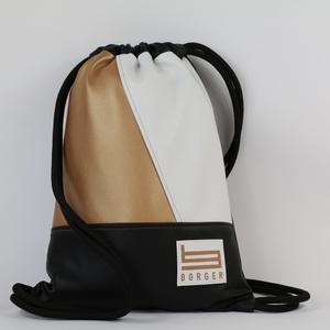 Bright Glow Borger hátizsák, Táska & Tok, Hátizsák, Gymbag, Hímzés, Varrás, Stílusos táska a hétköznapi használatra tervezve. Kényelmesen elfér minden dolgod, amit iskol..., Meska