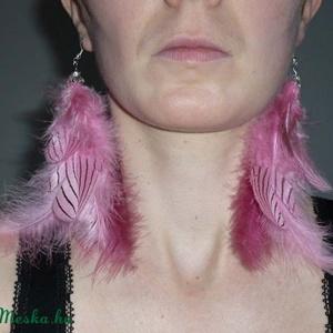 Rózsaszín hosszú madártollas füli (Boriboszi) - Meska.hu