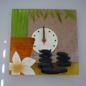 Feng shui - egyedi festett üveg falióra  - Meska.hu