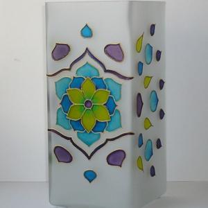 Tavaszi szél - egyedi festett virágos mandala üveglámpa (Boriboszi) - Meska.hu