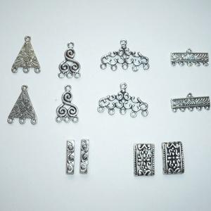 Tibeti ezüst virágmintás távtartó (köztes) mix - 6x2db (Boriboszi) - Meska.hu