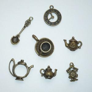 Tea-time - réz színű vintage függő (medál) gyűjtemény - Meska.hu