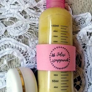 Körömvirágos ápoló duett, Táska, Divat & Szépség, Szépség(ápolás), Krém, szappan, dezodor, Kozmetikum, Fürdőszobai kellék, Növényi alapanyagú szappan, Kozmetikum készítés, 1 db körömvirágos testápoló 180 ml-es pumpás adagolóval, 1 db körömvirágos- sáfrányos szeklicés arc-..., Meska