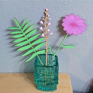 Színes fa virágcsokor dekoráció 2.0, Otthon & Lakás, Dekoráció, Falra akasztható dekor, Gravírozás, pirográfia, Festett tárgyak, Meska