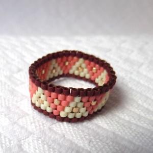 Fatime peyote gyűrű, Ékszer, Gyűrű, Gyöngyös gyűrű, Ékszerkészítés, Gyöngyfűzés, gyöngyhímzés, Meska