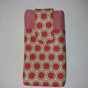 Mobiltok rózsaszín pöttyös, Telefontok, Pénztárca & Más tok, Táska & Tok, Varrás, Praktikus mobiltokokat készítettem több színben. \nMérete a kedvelt mobilok méretéhez igazodik: 9x16c..., Meska