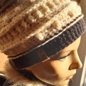 Női sapka, kalap: Trendi (horgolt, kötött), Táska, Divat & Szépség, Ruha, divat, Sál, sapka, kesztyű, Horgolás, Kötés, Különleges, igazi ajándéknak való sapka!\nSzíne és mintája  nagyon divatos. Dombor mintás horgolással..., Meska