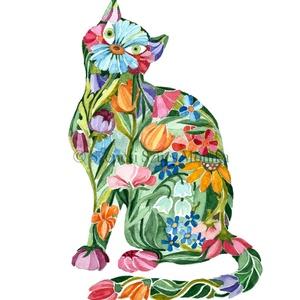 Cica - Print (Akvarell), Művészi nyomat, Művészet, Festészet, Fotó, grafika, rajz, illusztráció, Az eredeti illusztráció akvarellel készült, a print jó minőségű, A/4-es, 250 g/m2-es papírra van nyo..., Meska
