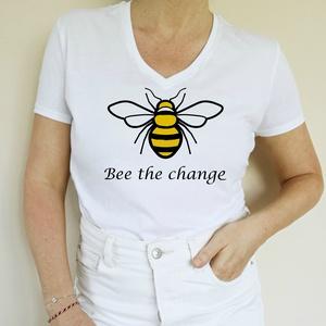 Légy te a változás, Ruha & Divat, Női ruha, Póló, felső, Fotó, grafika, rajz, illusztráció, Mindenmás, Szükségünk van a méhekre, hisz a bolygónk élete függ tőlük. \nMost nekik is szükségük van ránk! \nMég ..., Meska