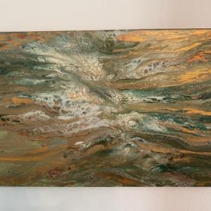 Fluid painting, Festmény vegyes technika, Festmény, Művészet, Festészet, Akril fluid painting technika\n55x38, Meska