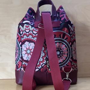 3 az 1-ben vízálló bordó mandalás női táska (BrandM) - Meska.hu