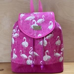 Flamingó mintás női hátizsák, Táska, Táska, Divat & Szépség, Hátizsák, Varrás, Flamingó rajongóknak készült ez a vastag vászon női hátizsák. \nIdeális hétköznapi használatra, kirán..., Meska