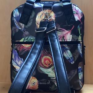 Pávatollas designer textilbőr 4 az 1-ben cipzáras női táska/hátizsák (BrandM) - Meska.hu