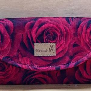 """Rózsamintás vízálló """"KRISZTI"""" kártyatartós női pénztárca, Táska, Divat & Szépség, Táska, Pénztárca, tok, tárca, Pénztárca, Varrás, Rózsamintás romantikus vízálló designer szövetből készült női pénztárca. Feldobja a napod! 12 kártya..., Meska"""