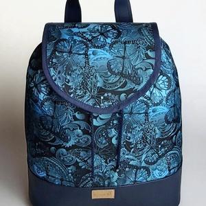 """Kék pillangós vízálló """"JUDIT"""" hátizsák, Táska, Divat & Szépség, Táska, Hátizsák, Igazi tavasz, nyári kék pillangós vízálló designer szövetből és műbőrből készült női hátizsák. Máské..., Meska"""
