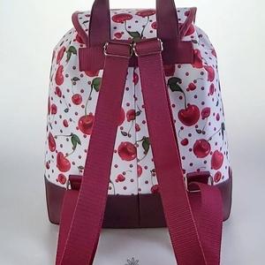 Cseresznyés vízálló �JUDIT női hátizsák - táska & tok - hátizsák - hátizsák - Meska.hu