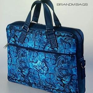 """Kék pillangós vízálló """"EDIT"""" laptop táska (BrandM) - Meska.hu"""