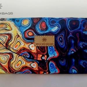 """Vibráló színes vízálló """"KRISZTI"""" kártyatartós női pénztárca, Táska, Divat & Szépség, Táska, Pénztárca, tok, tárca, Pénztárca, Varrás, Vibráló színes virágmintás vízálló designer szövetből készült női pénztárca. Feldobja a napod! 12 ká..., Meska"""