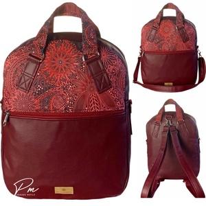 Burgundi vörös �RITA 4 az 1-ben táska/hátizsák, Táska & Tok, Variálható táska, Varrás, Meska