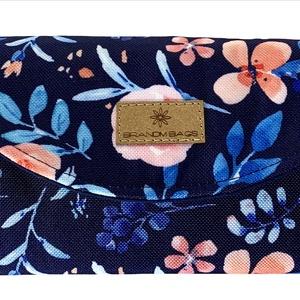 Kék virágos �KRISZTIkártyatartós pénztárca, Táska & Tok, Pénztárca, Pénztárca & Más tok, Varrás, Meska