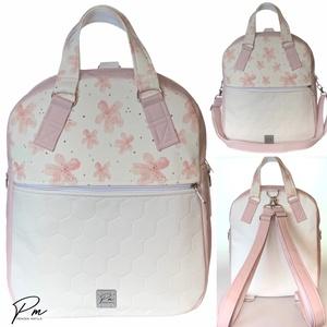 Barackvirágos textilbőr �RITA 4 az 1-ben női táska/hátizsák, Táska & Tok, Variálható táska, Varrás, Meska