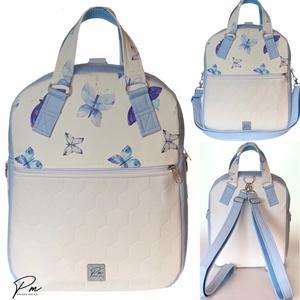 Pillangós textilbőr �RITA 4 az 1-ben női táska/hátizsák, Táska & Tok, Variálható táska, Varrás, Meska