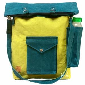 """""""GABI"""" uniszex viaszolt sportos 4 az 1-ben táska/hátizsák kivi, Táska & Tok, Variálható táska, Varrás, Ez a """"GABI"""" uniszex 4 az 1-ben táska/hátizsák különleges anyagból készült, ami teljesen környezetbar..., Meska"""