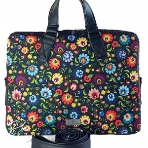 Folklór virágos �EDIT vízálló női laptop táska, Táska & Tok, Laptop & Tablettartó, Laptoptáska, Varrás, Meska