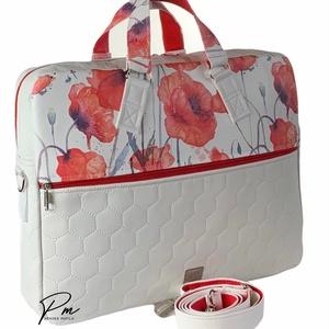 Pipacsos textilbőr �EDIT laptop táska , Táska & Tok, Laptop & Tablettartó, Laptoptáska, Varrás, Meska