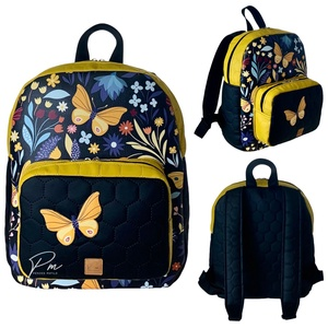 ÚJDONSÁG! Sárga pillangós textilbőr �BRIGI laptop hátizsák, Táska & Tok, Laptop & Tablettartó, Laptoptáska, Varrás, Meska